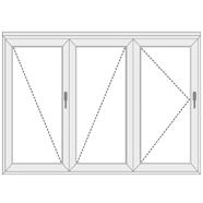 uPVC Folding Doors with 3 Panels
