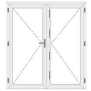uPVC Double Leaf Front Doors