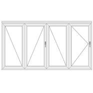 uPVC Folding Doors with 4 Panels