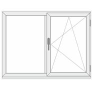 1 Fixed 1 Operable uPVC Windows